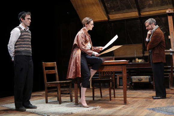 Ari Brand, Mark Nelson, and Jenny Bacon in <i>My Name is Asher Lev</i>