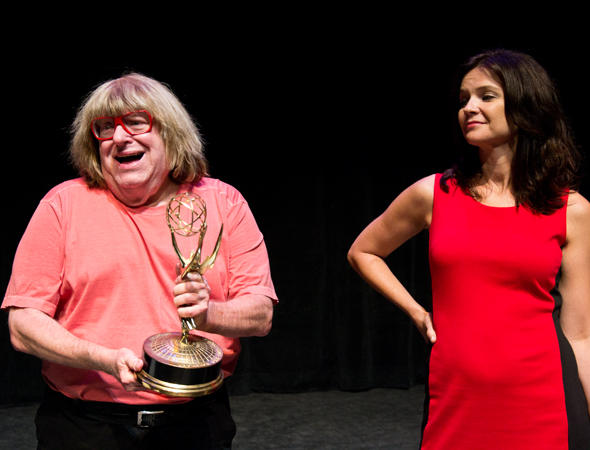 Bruce Vilanch and Amy Wilson appear in Mike Reiss' dark comedy <i>Rubble</i>.<br />(© David Gordon)