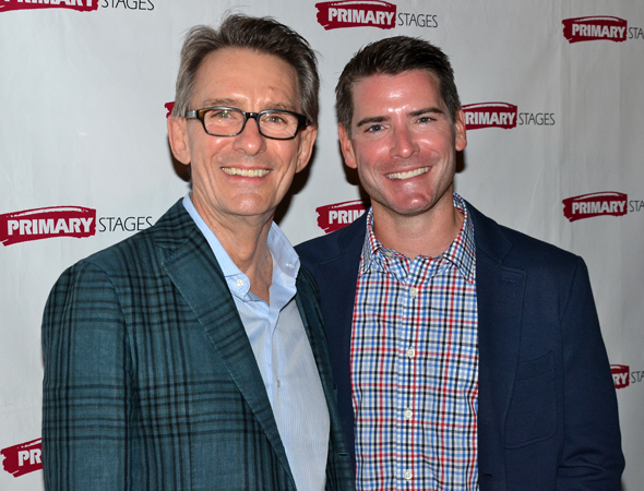 Director Mark Lamos and playwright Chad Beguelin celebrate their opening night.<br />(© David Gordon)