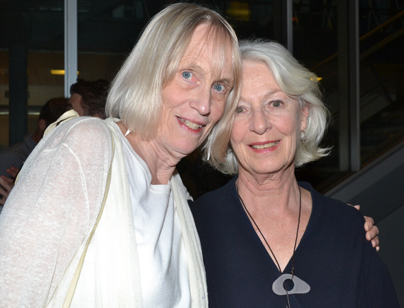 Tina Howe is visited by her old friend, actress Jane Alexander, at 59E59 before the show.<br />(© David Gordon)