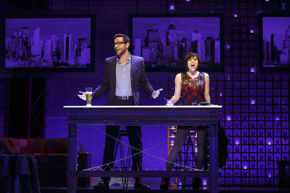 Zachary Levi and Krysta Rodriguez in <I>First Date</I>.