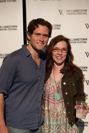 Steven Pasquale and book writer Marsha Norman.