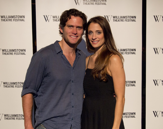 Steven Pasquale and Elena Shaddow at the opening night of The Bridges of Madison County at Williamstown Theatre Festival.
