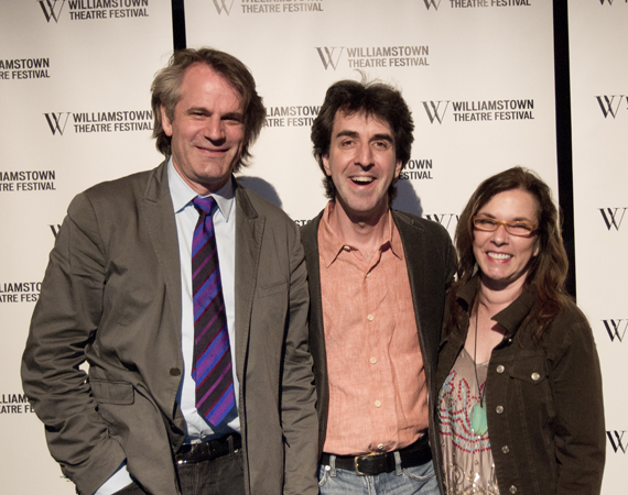 Pictured (L to R): Bartlett Sher (director), Jason Robert Brown (music and lyrics) and Marsha Norman (book).