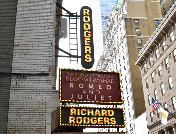 The media was asked to gather at the Richard Rodgers Theatre, home to the upcoming revival of William Shakespeare's <i>Romeo and Juliet</i>.<br />(© David Gordon)