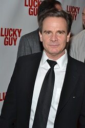 Peter Scolari on opening night of <i>Lucky Guy</i>