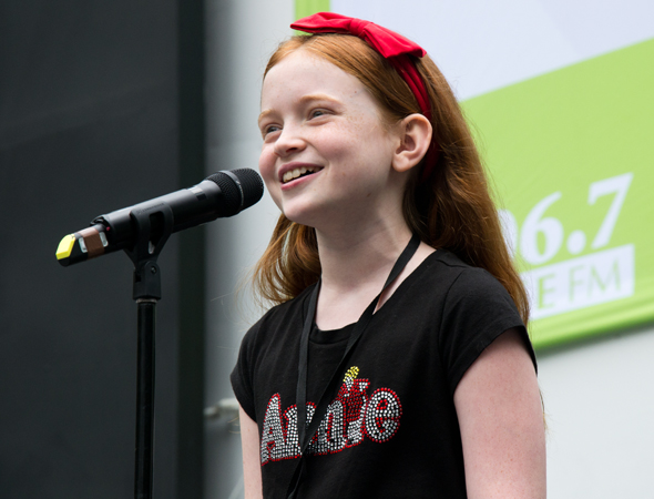 "<i>Annie</i> star Sadie Sink serenades the audience with ""Maybe.""<br />(© David Gordon)"