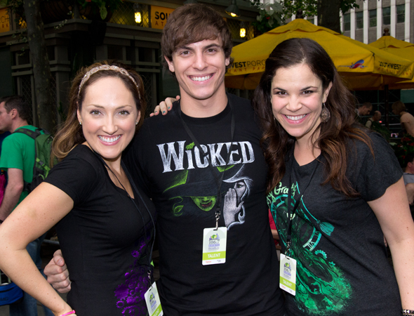 <i>Wicked</i> cast members Tiffany Haas, Derek Klena, and Lindsay Mendez.<br />(© David Gordon)