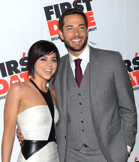 Krysta Rodriguez and Zachary Levi.