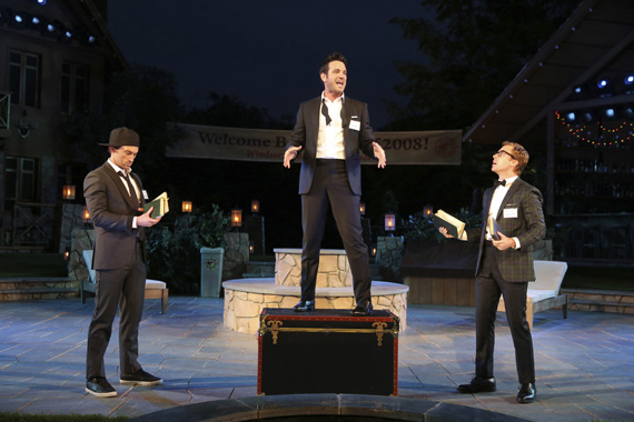 Bryce Pinkham, Colin Donnell, and Lucas Near-Verbrugghe in <I>Love's Labour's Lost</I>.