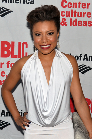 Shalita Grant is dressed to kill on opening night.<br />(© David Gordon)