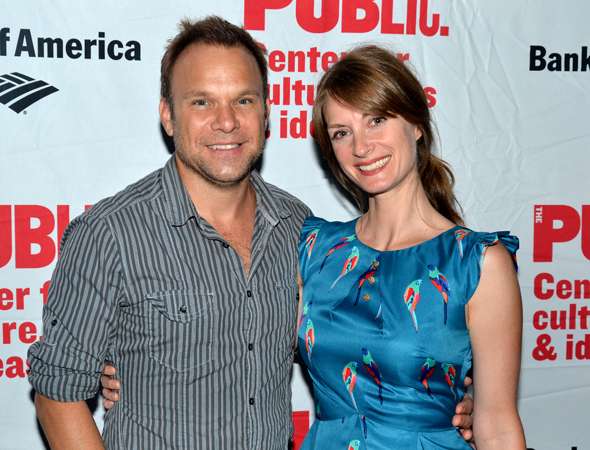 Norbert Leo Butz and Michelle Federer spend date night at Shakespeare in the Park.<br />(© David Gordon)
