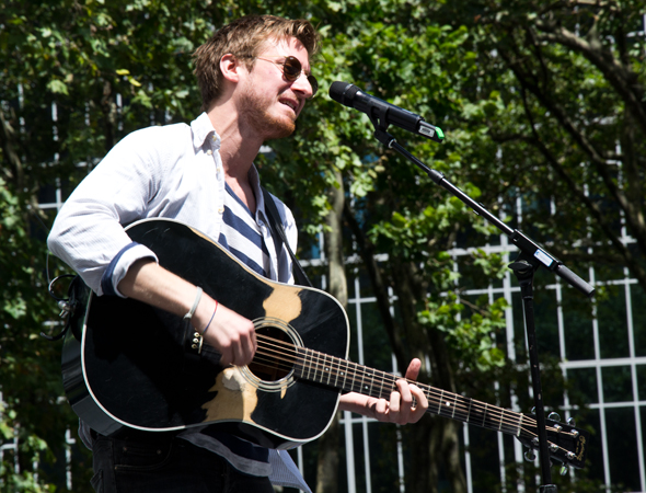 "Darvill sings the beautiful song ""Gold.""<br />(© David Gordon)"