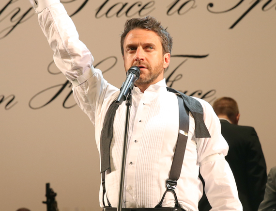 Workers' friend: Raúl Esparza as Larry Foreman in <i>The Cradle Will Rock</i>.