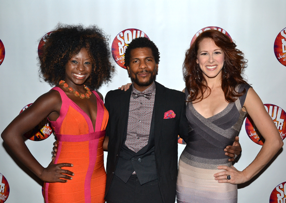 Vasthy Mompoint, Abdur-Rahim Jackson, and Heather Parcells are among the show's dancers.<br />(© David Gordon)