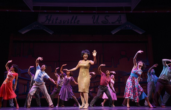 Saycon Sengbloh and the cast of <i>Motown the Musical</i>.