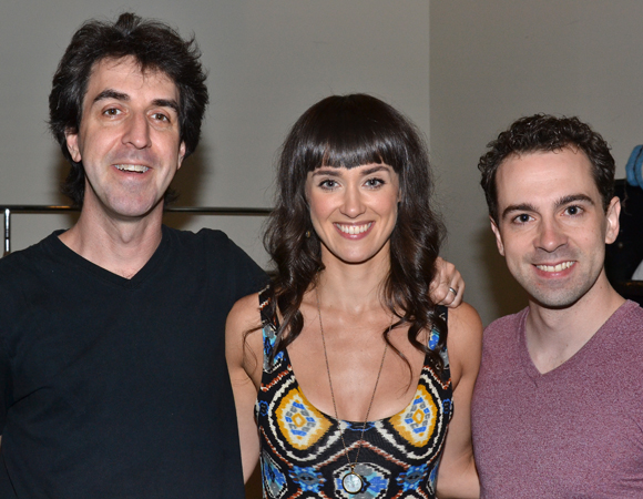 Composer/lyricist Jason Robert Brown shares a photo with his stars, Brynn O'Malley and Rob McClure.
