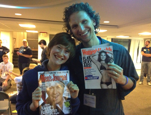 "Rachel Sussman and Sebastian Arcelus present some ""Interesting Magazine Choices.""<br />(© Rachel Sussman)"