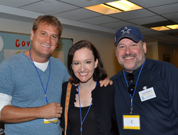 It's a <i>Bonnie and Clyde</I> reunion with director Jeff Calhoun, star Melissa van der Schyff, and composer/lyricist Frank Wildhorn.<br />(© David Gordon)