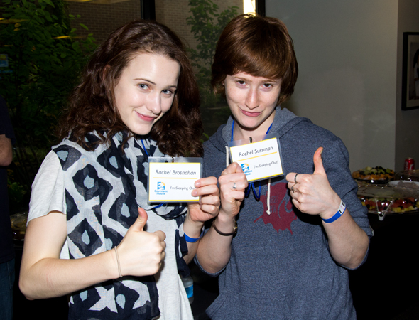 Besties Rachel Brosnahan and Rachel Sussman show off their enthusiasm for the event.<br />(© David Gordon)