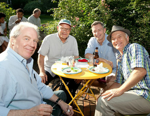 L to R: Cast members Michael McKean, Ethan Phillips, Arnie Burton, and Dan Butler.<br />(© Evgenia Eliseeva)