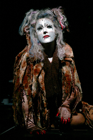 Katy Blake as Grizabella singing the classic number, &quot;Memory.&quot; <br />(© Paul Lyden)