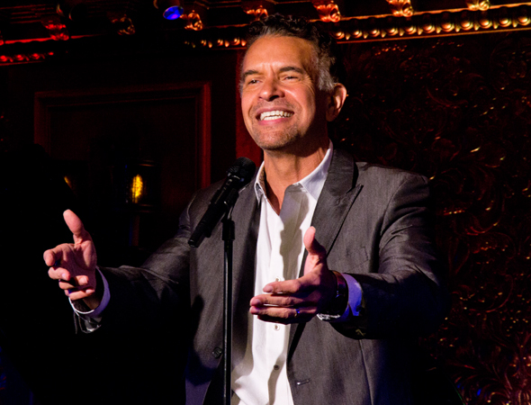 "Brian Stokes Mitchell serenades the audience with ""Wheels of a Dream"" from <i>Ragtime</i>.<br />(© David Gordon)"