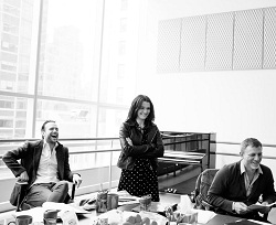 Rafe Spall, Rachel Weisz, and Daniel Craig in rehearsal for <i>Betrayal</i>