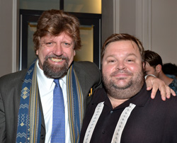 Public Theater Artistic Director Oskar Eustis and Mike Daisey.