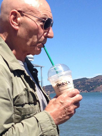 I remember my first Frappuccino - Union Station, Los Angeles. 17 years later and it still tastes like iced nectar. —Sir Patrick Stewart<br />(via @SirPatStew)