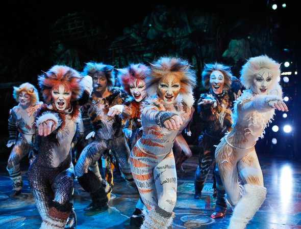 2. <i>Cats</i> played its 7,485th and final performance on September 10, 2000. The show won seven Tony awards including Best Musical. <br />(© Joan Marcus)