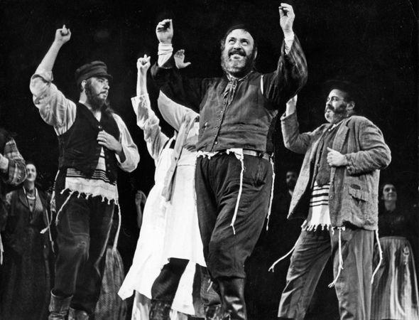 16. <i>Fiddler on the Roof</i> played 3,242 performances between 1964 and 1972. The show had four Broadway revivals that staged 1,242 performances in all.<br />(© Photofest Inc)