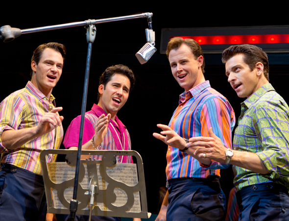 15. On September 7, 2013, <i>Jersey Boys</i> clocks in at 3,243 performances. <br />(© Joan Marcus)