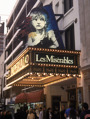 4. <i>Les Misérables</i> played 6,680 performances from 1987 through 2003 and won eight Tony awards including Best Musical.