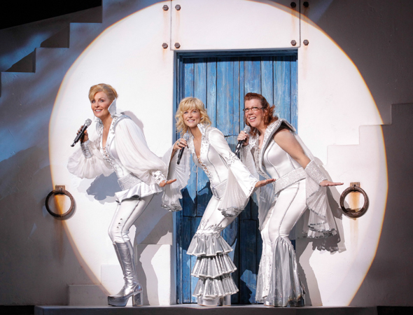 10. <i>Mamma Mia!</i> will play its 5,000th performance at the Broadhurst Theatre.<br />(© Joan Marcus)