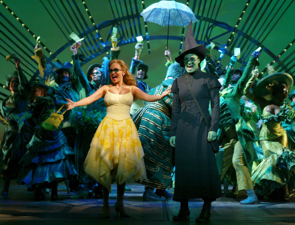 11. <i>Wicked</i> is still flying high with almost 4,100 performances. <br />(© Joan Marcus)