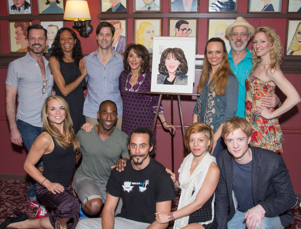Andrea Martin poses with her <i>Pippin</i> cast.<br />(© Seth Walters)
