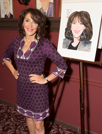 The lovely Andrea Martin with her caricature. <br />(© Seth Walters)