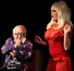 Leslie Jordan and Willam Belli in <I>Southern Baptist Sissies</I>.