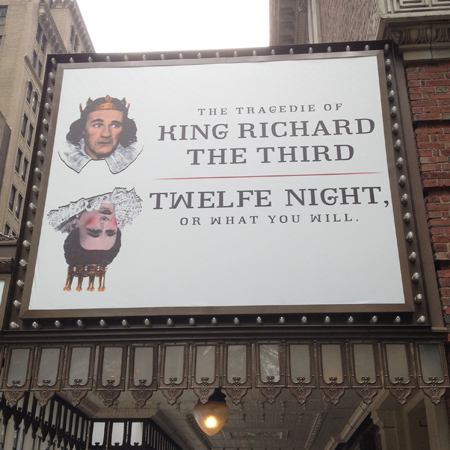 <i>Twelfth Night</i> and <i>Richard III</i> — Belasco Theatre<br />(© David Gordon)
