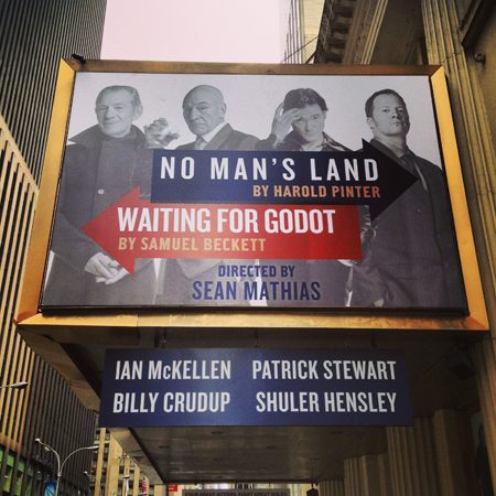 <i>No Man's Land</i> and <i>Waiting for Godot</i> — Cort Theatre<br />(© David Gordon)