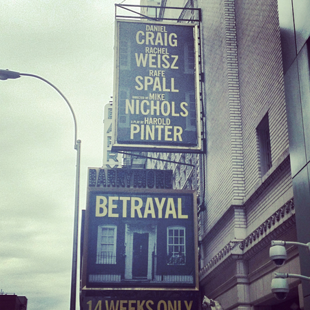 <i>Betrayal</i> — Ethel Barrymore Theatre<br />(© David Gordon)