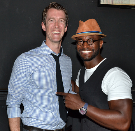 Adam Harrington is congratulated by his dear pal Taye Diggs.<br />(© David Gordon)