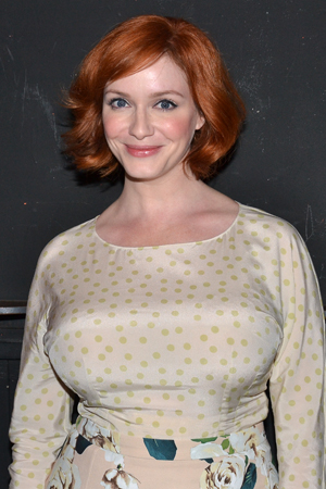 Christina Hendricks is excited to cheer on her hubby, <i>Everything Is Ours</i> star Geoffrey Arend.<br />(© David Gordon)