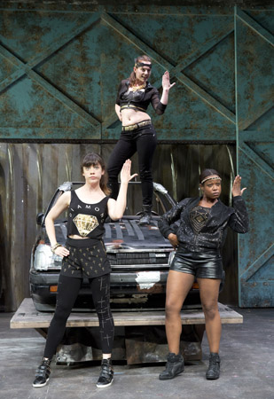 Susannah Flood, Colleen Werthmann, and Quincy Tyler Bernstine have attitude.<br />(© Joan Marcus)