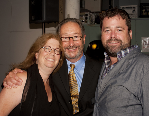 <i>The Jungle Book</i> playwright Mary Zimmerman with Michael Maso and Peter DuBois of the Huntington Theatre Company.