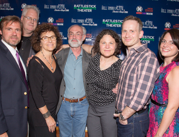 The producers of <i>The Hill Town Plays</i> with writer Lucy Thurber (third from right).<br />(© Seth Walters)