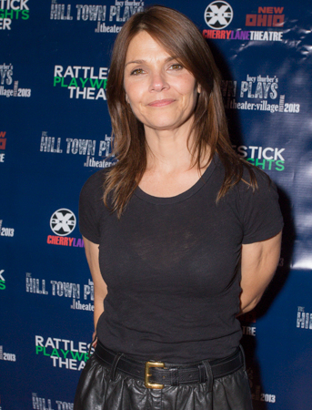 Kathryn Erbe attended opening night of <i>The Hill Town Plays</i>.<br />(© Seth Walters)