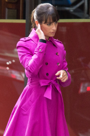 Lea Michele prepares to shoot.<br />(© Seth Walters)