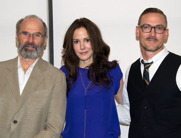 Mary-Louise Parker (center) poses alongside her director, Daniel Sullivan (left), and playwright Sharr White (right).<br />(© David Gordon)